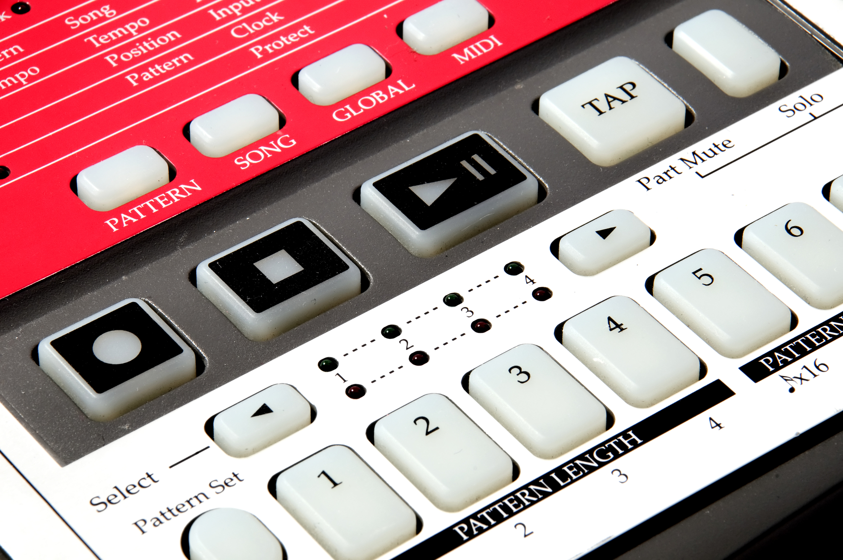 Drum machine Closeup