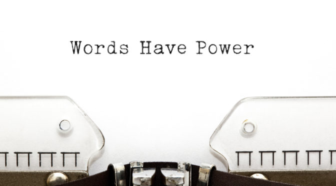 Words Have Power Typewriter