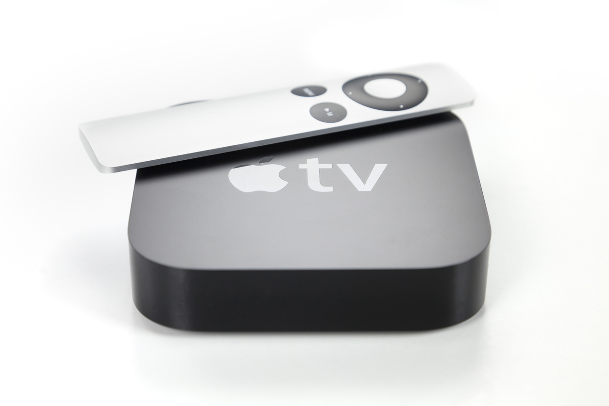 Second generation Apple TV and remote control