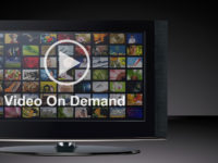 Video on demand VOD service on TV.