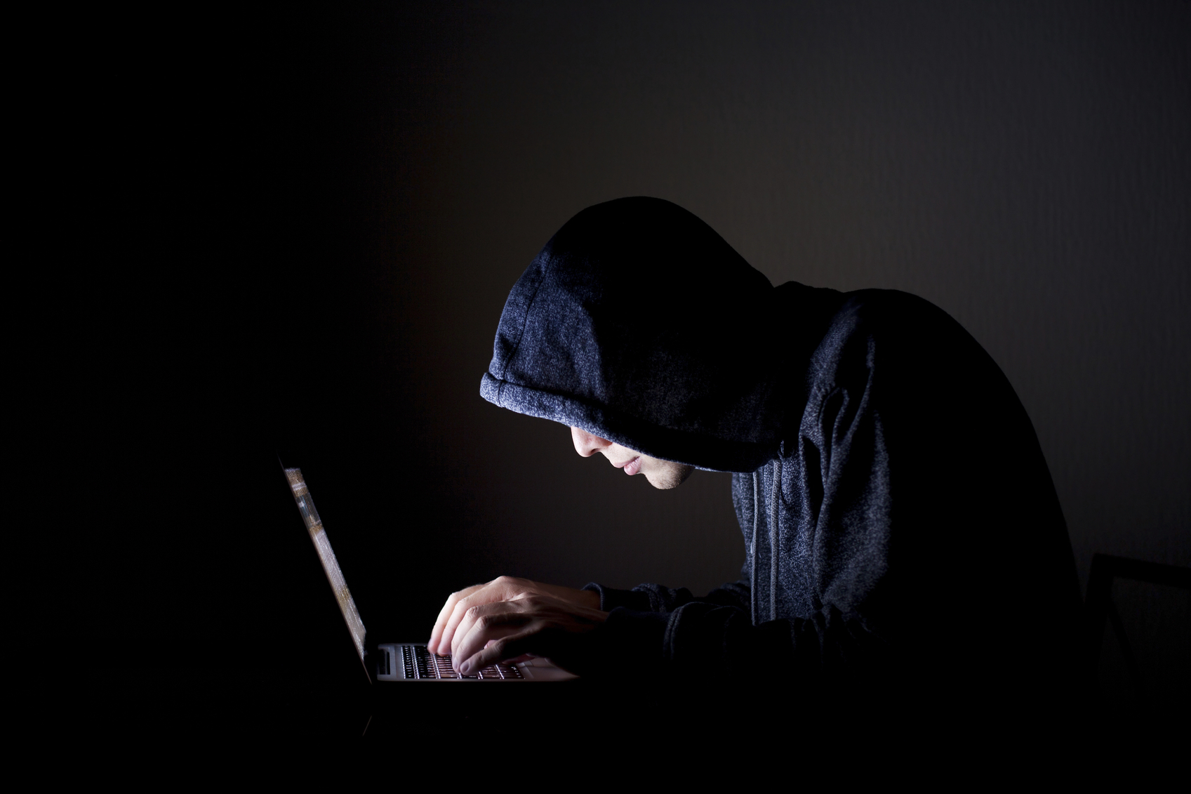 hacker with laptop, concept