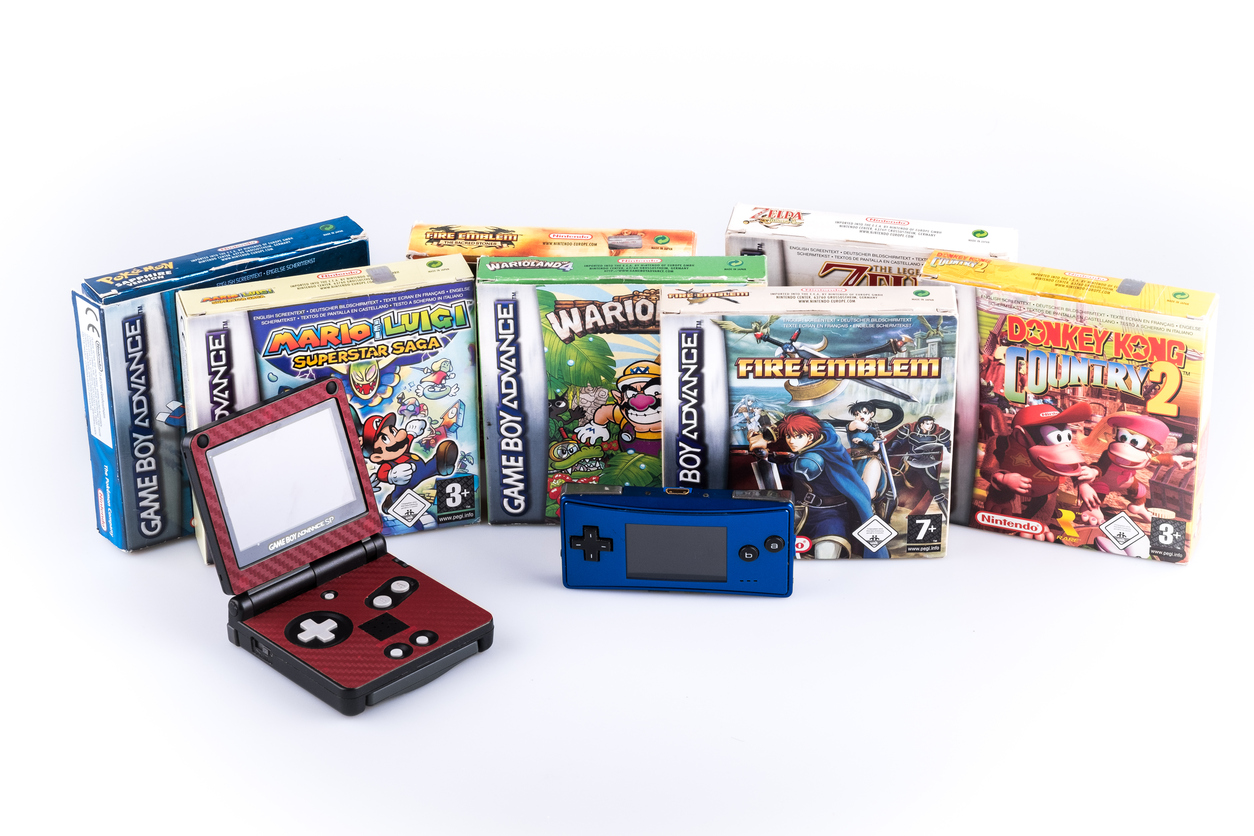 Nintendo gameboy advance with games