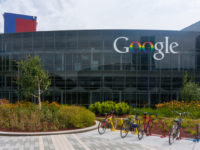 Exterior view of Google's Googleplex Corporate headquarters.