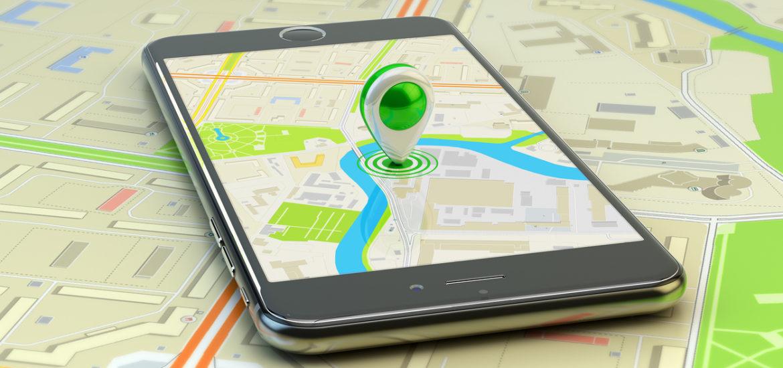 Mobile gps navigation, travel destination, location and positioning concept
