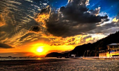 Japan sunset ( Shinmaiko Coast)