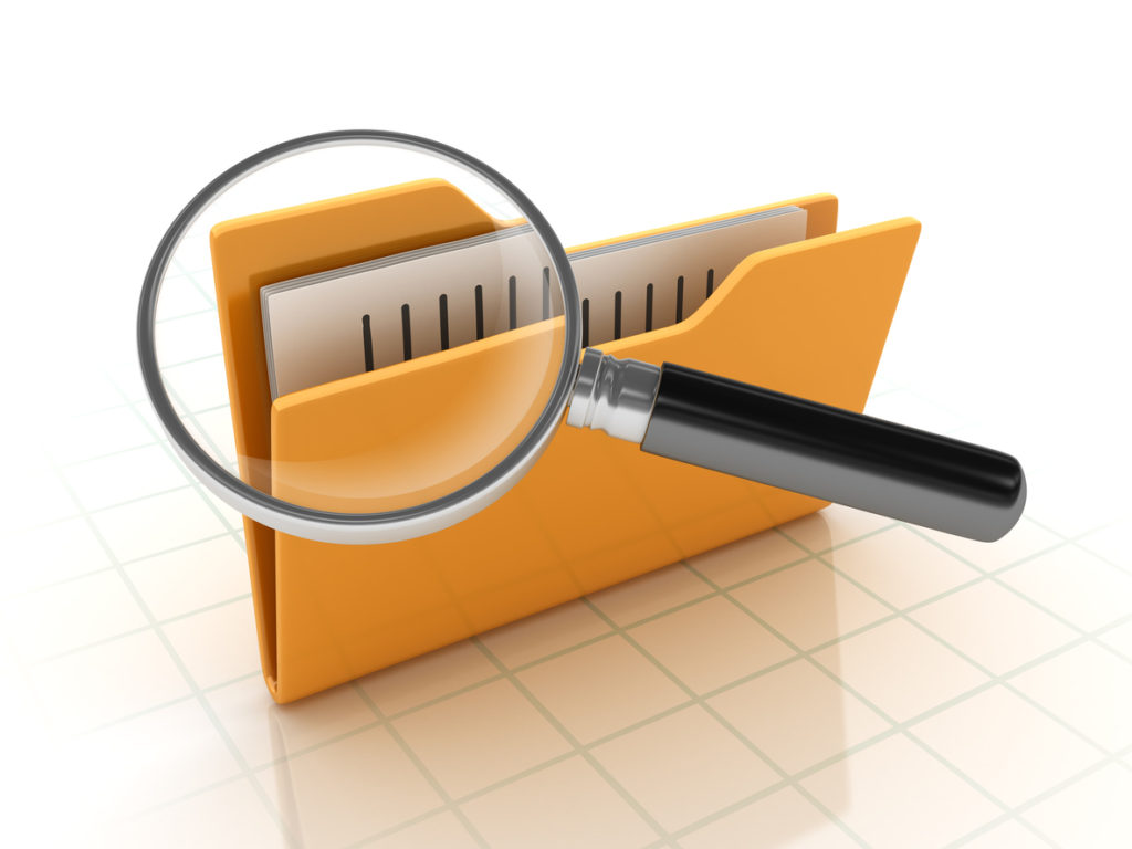 Folders Search with Magnifying Glass