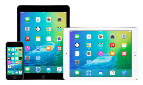 Apple iPhone 5s and two iPad Air 2