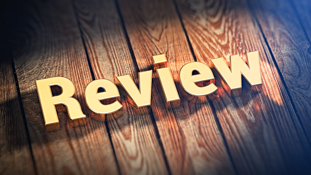 Word Review on wood planks