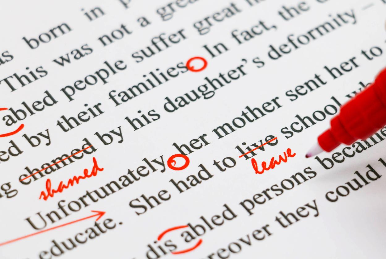 proofreading english document