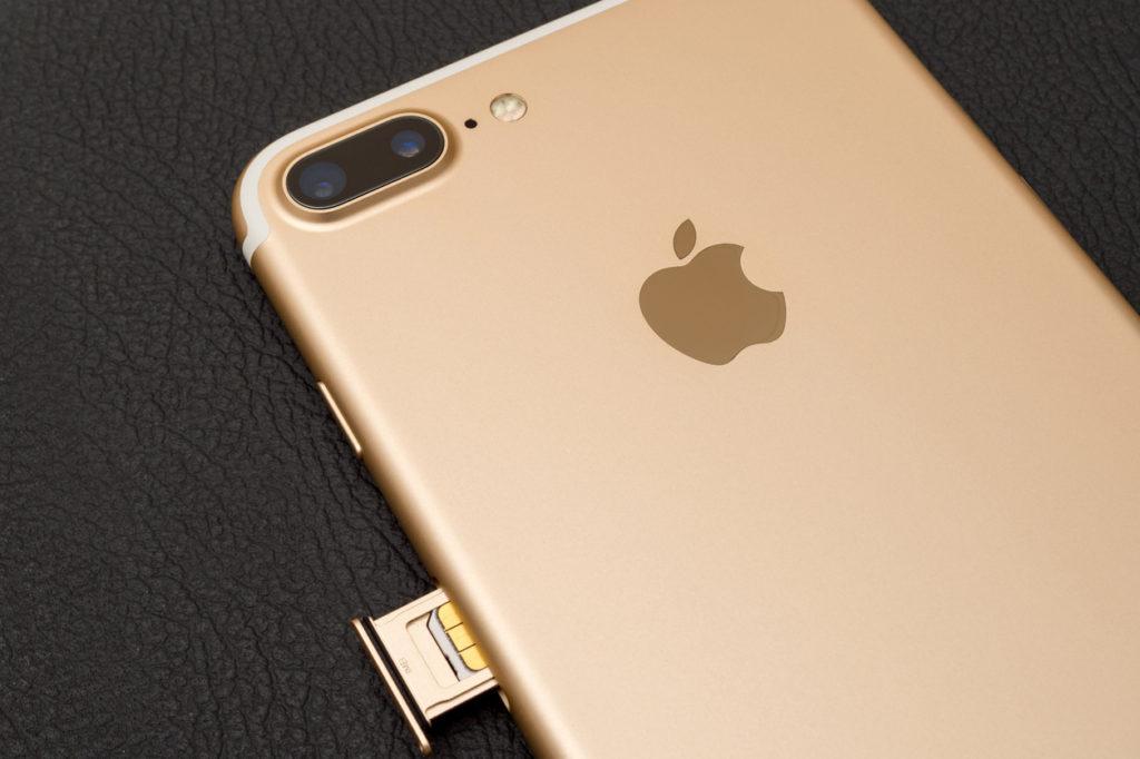 iPhone 7 plus dual camera unboxing inser SIM CARD module