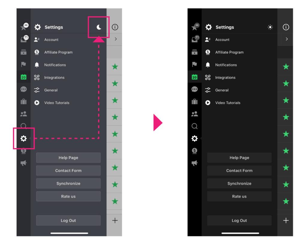 nozbe-iphone-ipad-mac-all-platform-dark-theme-setting-1