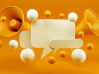 Digital Marketing Social Media Megaphone Concept