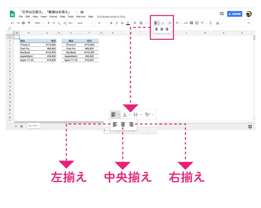 google-spreadsheet-horizontal-align-rule-3