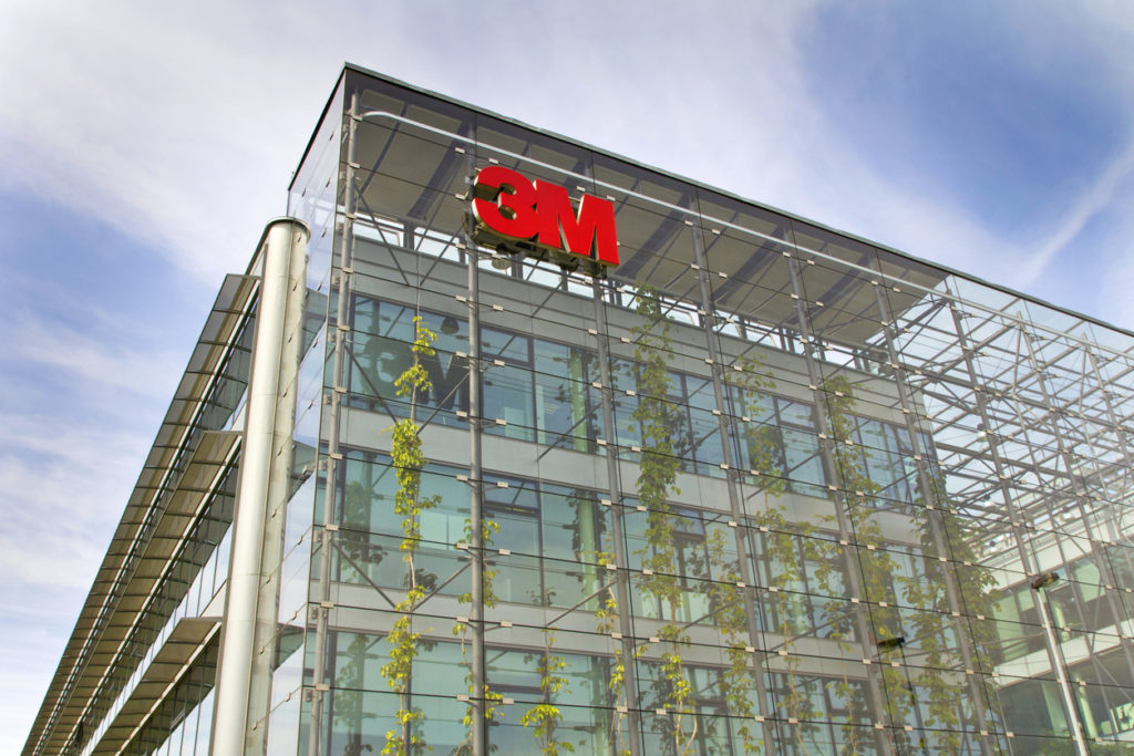Prague, Czech republic - May 22, 2017: 3M company logo on headquarters building