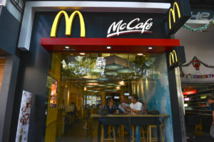 Exterior view of a McDonald's Restaurant in Hong Kong