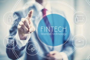 Fintech concept financial technology future business