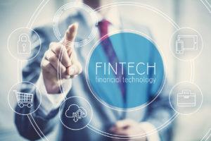 Fintech concept financial technology future business