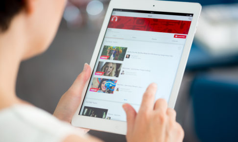 YouTube music playlist on Apple iPad Air