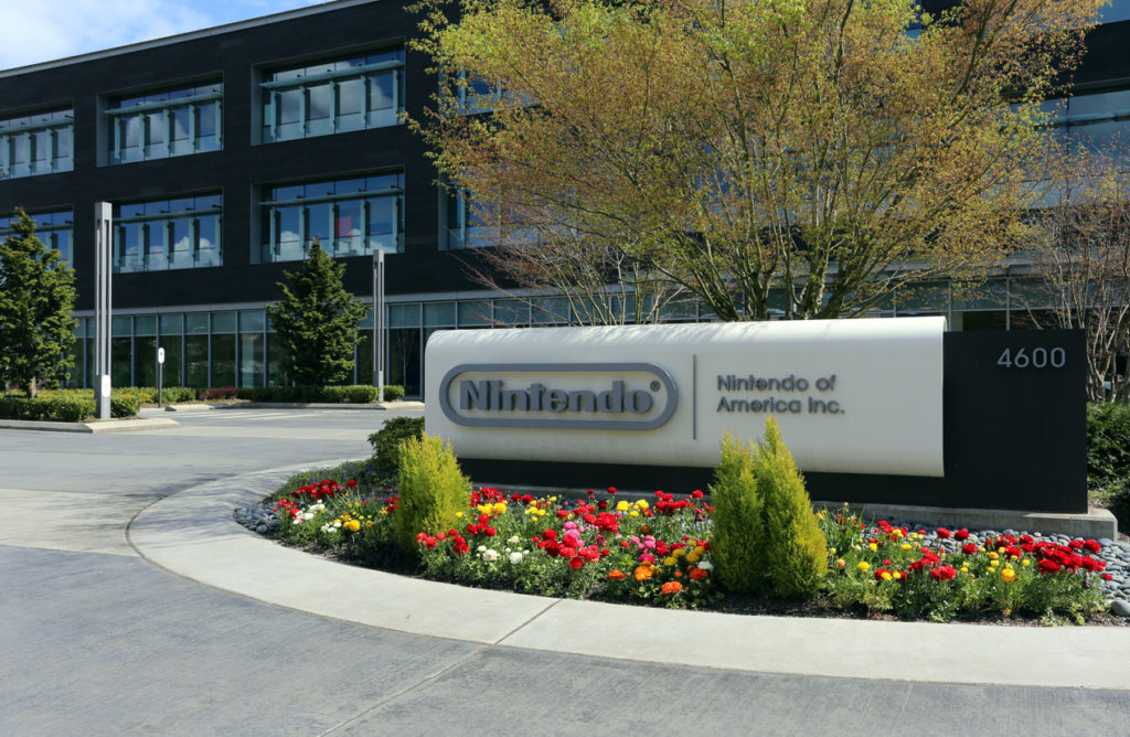 Redmond, WA, USA - April 15, 2017: The Nintendo of America headquarters in Redmond. Nintendo is one of the world's largest video gaming companies.