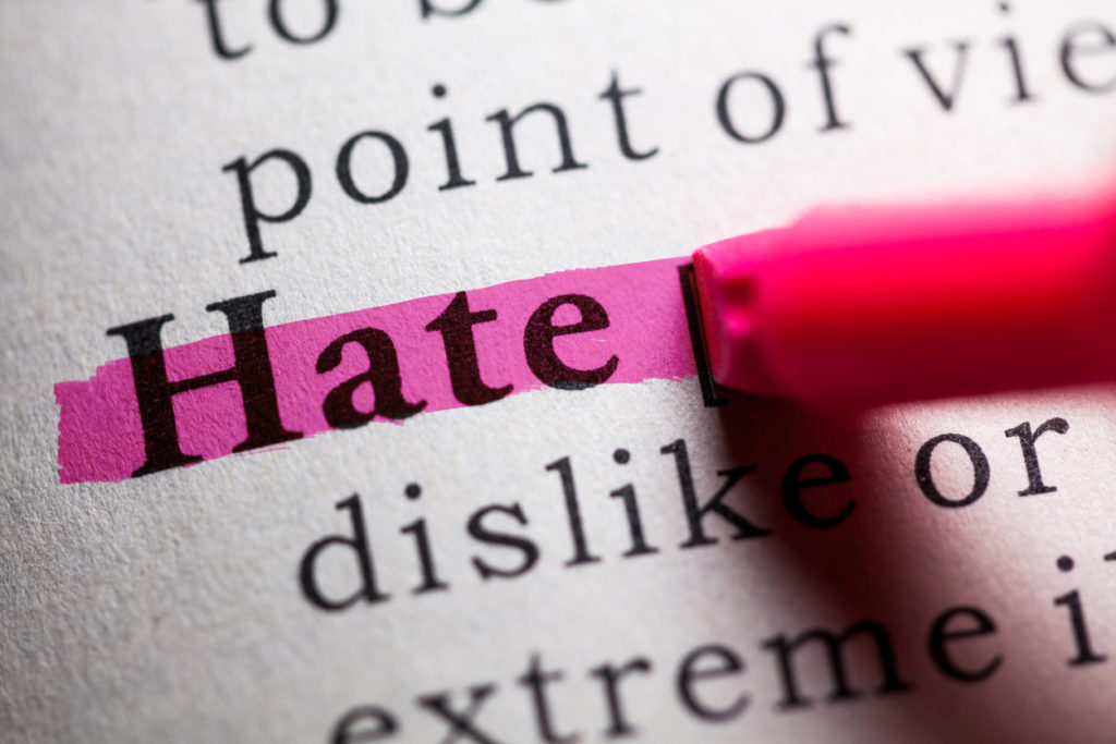Fake Dictionary, definition of the word hate. /PHOTO: iStock by Getty Images