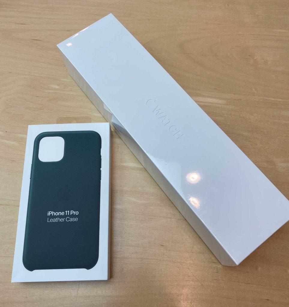 出所:SMATU.netにて撮影 Apple銀座でお買い物した『Apple Watch Series5』と『iPhone11 Pro純正ケース』良いお買い物でした.