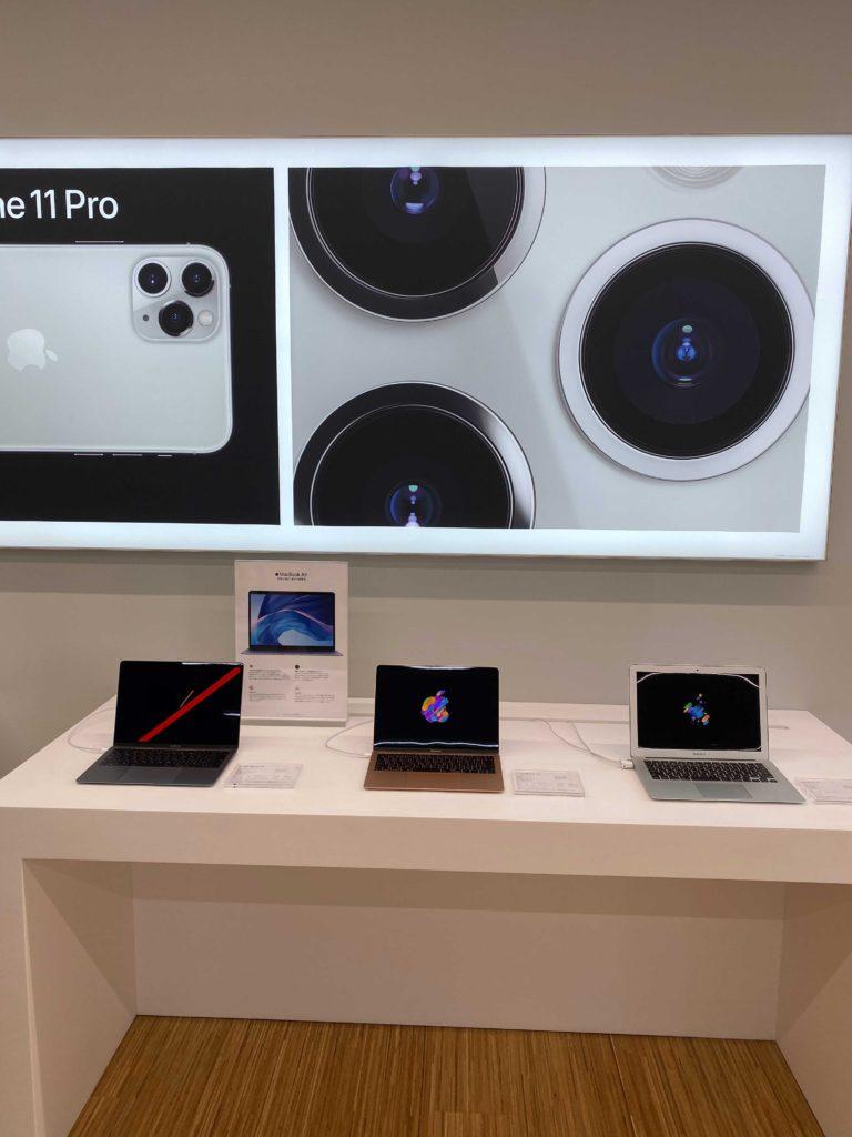 出所:SMATU.net iMacやMacBookの実機も展示されているので,操作感を確かめつつ購入が可能です.