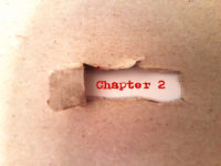Text Chapter 2 - two appearing behind torn paper