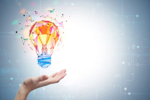 Enlightenment and innovation concept