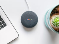 Google home mini smart speaker with built in Google Assistant