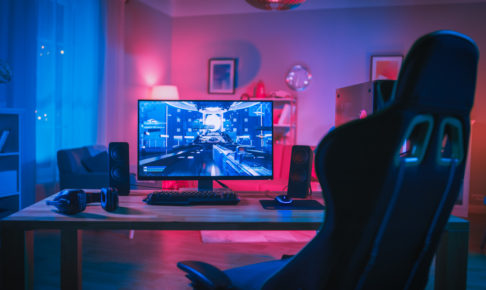 Powerful Personal Computer Gamer Rig with First-Person Shooter