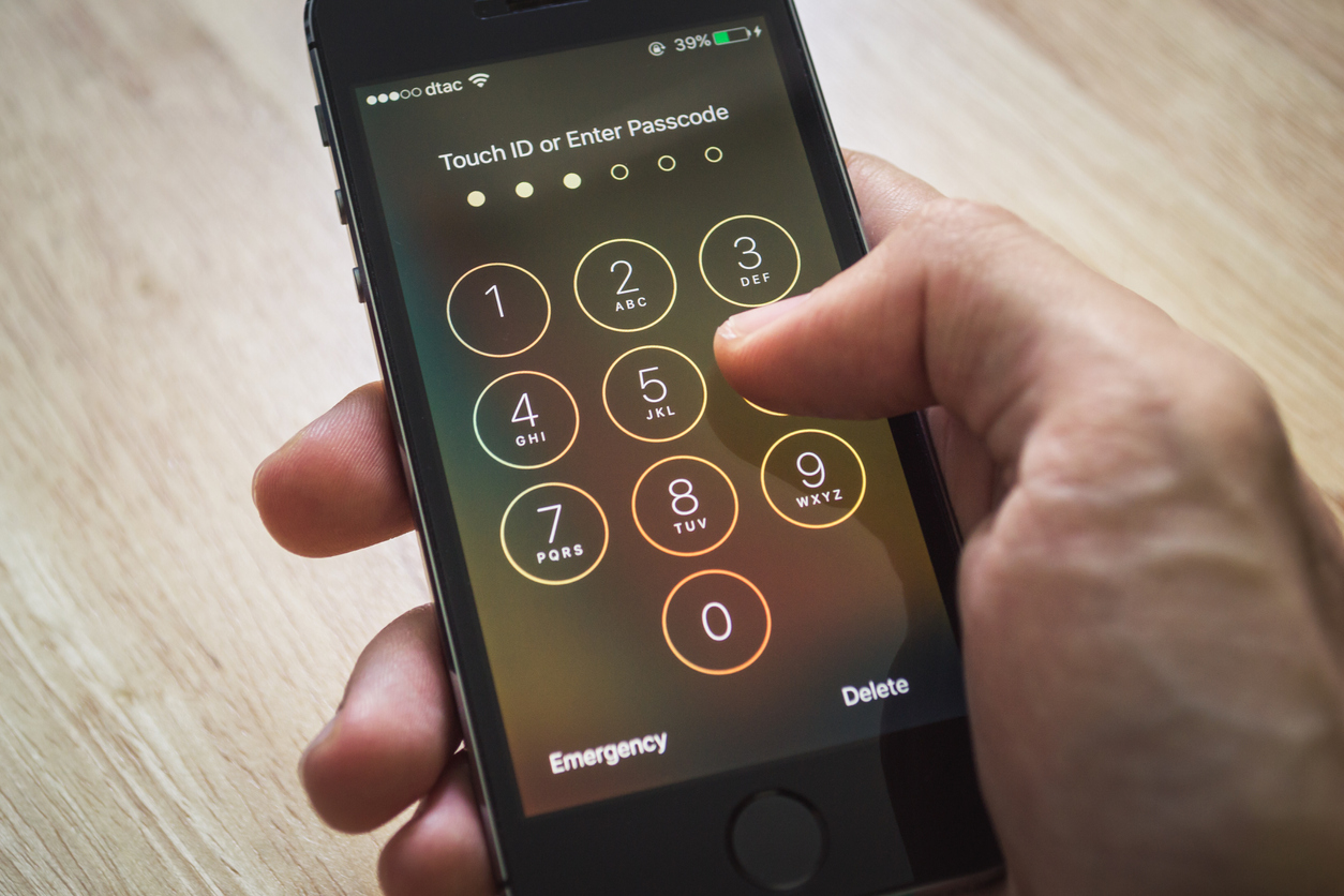 Touch ID or Enter Passcode