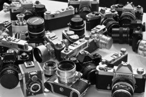 various old cameras