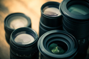 vintage photo of lenses for camera