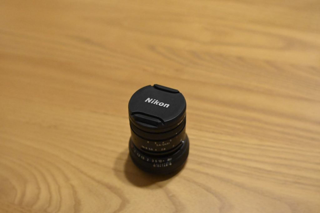 Vario Prasma 50mm F1.5のフィルターサイズは,40.5mm. ニコン純正の40.5mmのレンズキャップがピッタリです.