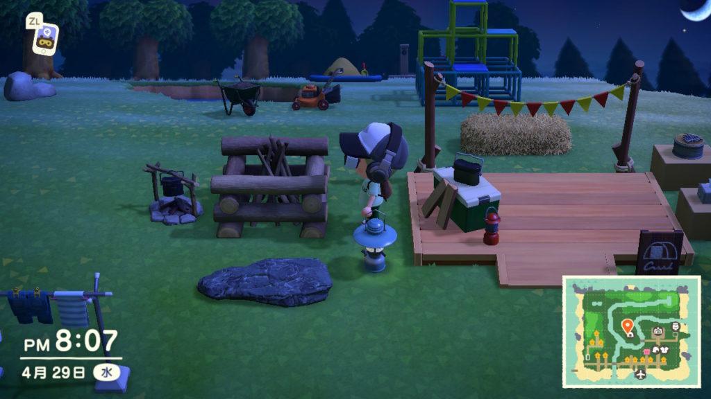 Photo : どうぶつの森のスクリーンショット オブジェクトの中には,Aボタンで特定のアクションをするものがあります.