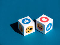 Facebook Emoticons Printed on a Cubes