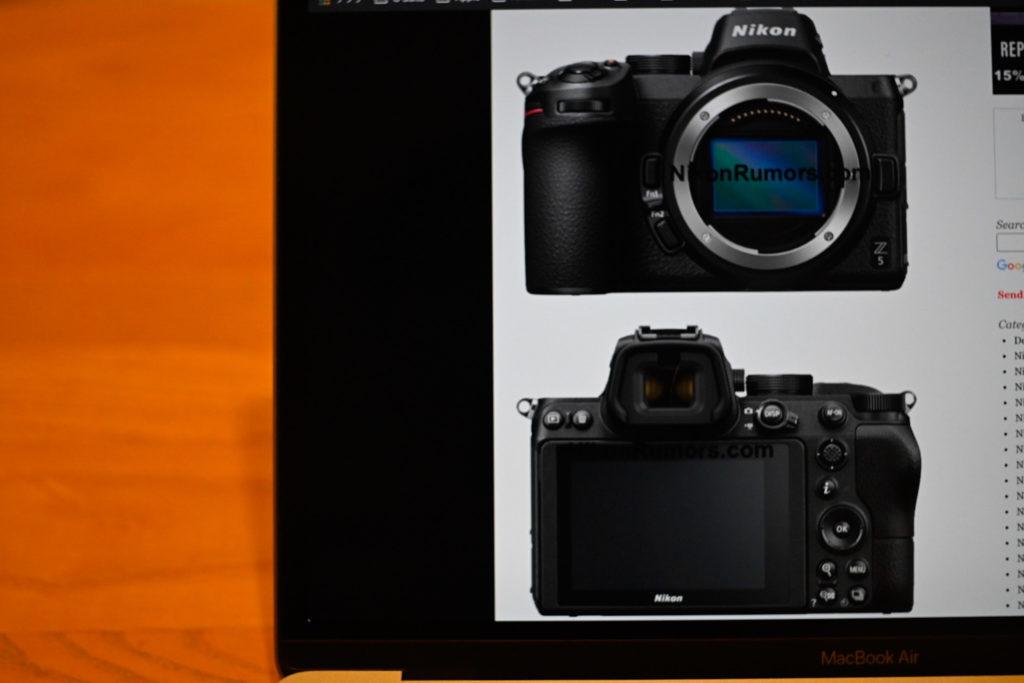Nikon Rumorsさんのサイトにアップされている,Z5のモックアップ画像. Z50をフルサイズにしたデザインで,個人的にも食指が動く.