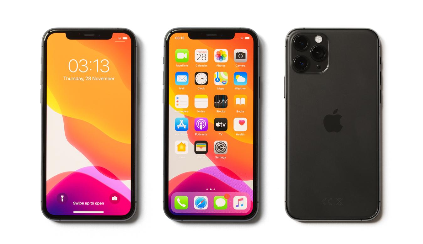 Apple iPhone 11 Pro isolated on white background