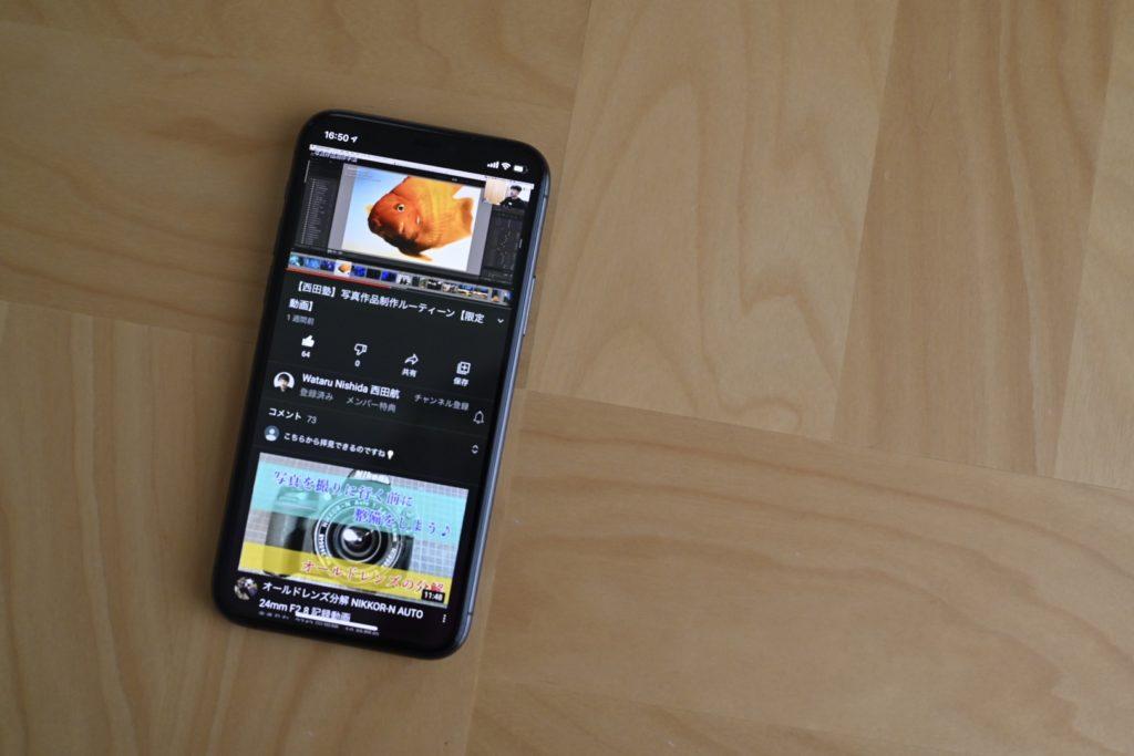 動画をタップすると,目的の有料動画を再生することができる.