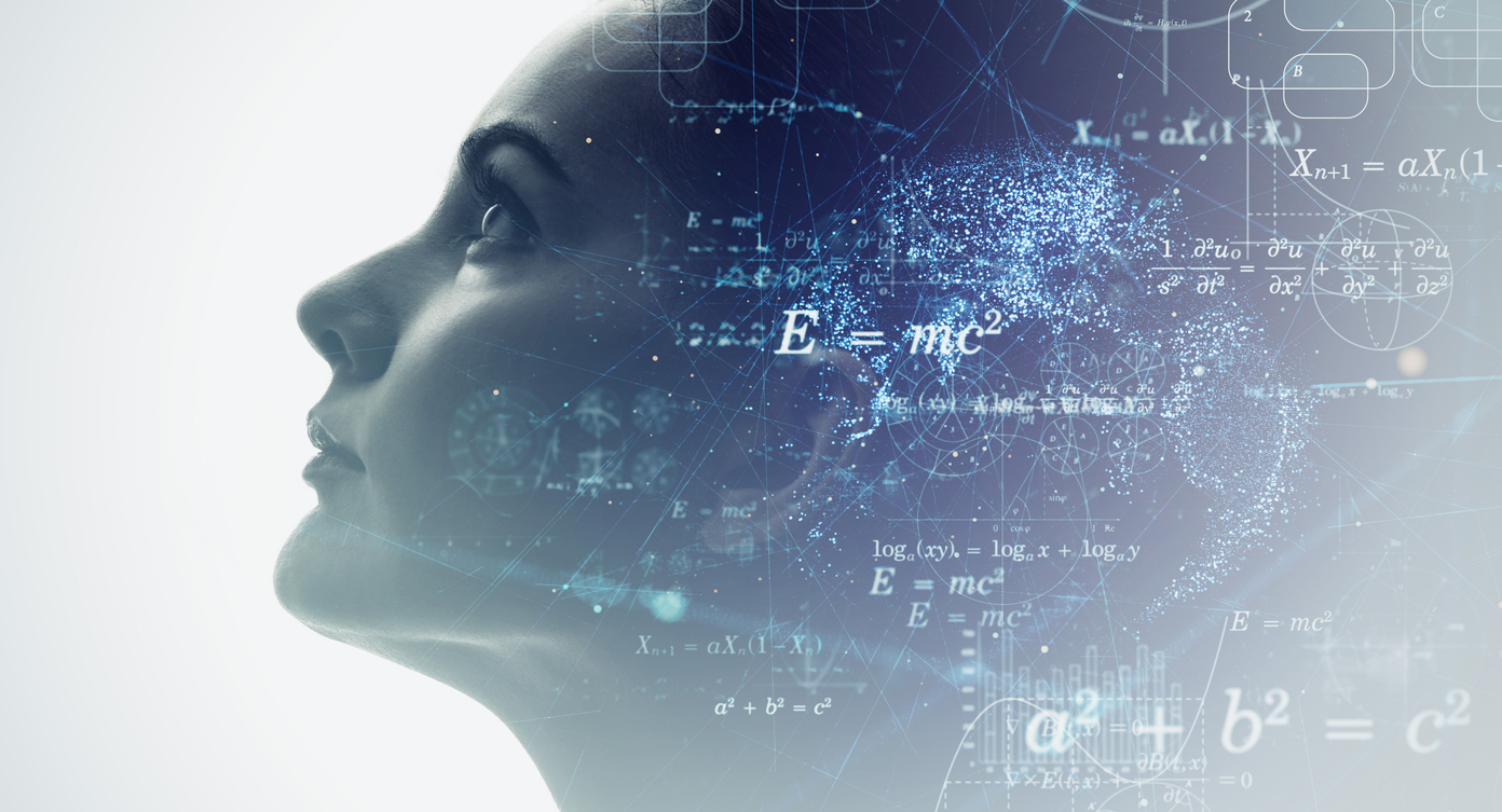 AI (Artificial Intelligence) concept. Science. Mind Palace.
