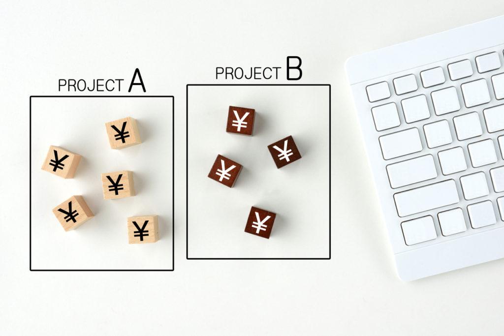 Comparison of project money images