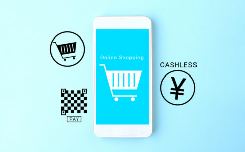 Smartphone and code, Japanese cashless payment images
